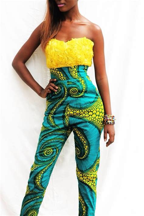 african jumpsuits style jumpsuit african fashion africana pinterest