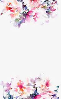 Poppy Wall Sticker watercolor flowers border hand painted color beautiful