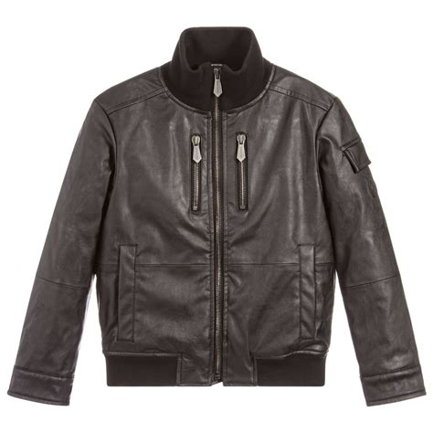 Jaket Boy Black 1 trussardi boys black eco leather jacket childrensalon