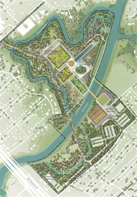 botanical gardens houston the 9 zoomiest images in west 8 s master plan for the