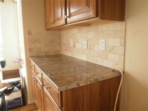 travertine kitchen backsplash integrity installations a division of front range backsplash 3x6 tumbled ivory