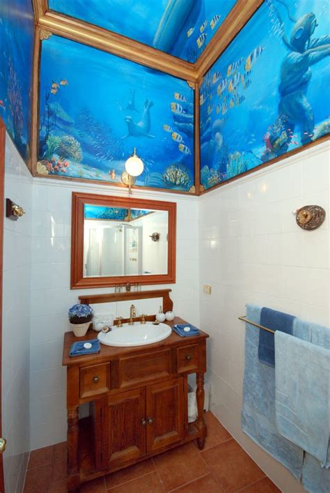 ocean themed bathroom ideas image detail for bathroom life size stick ups