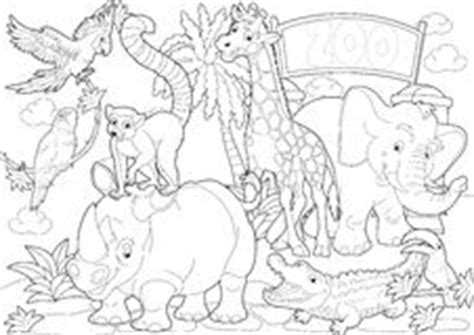 zoo background coloring page emerald boa green constrictor snake wild animal royalty