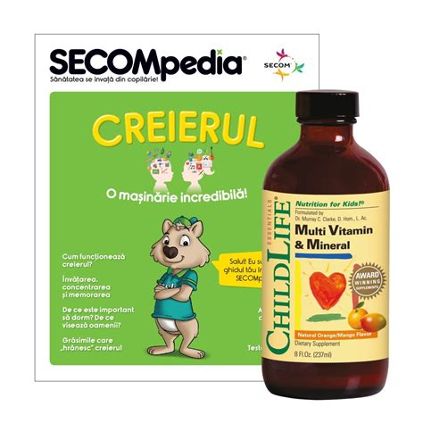 Megazing Multivitamin Mineral multi vitamin mineral pentru copii secom ro