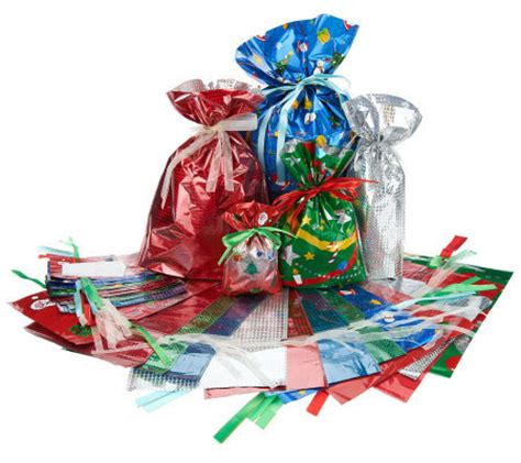kringle express 60 piece e z drawstring holiday gift bag