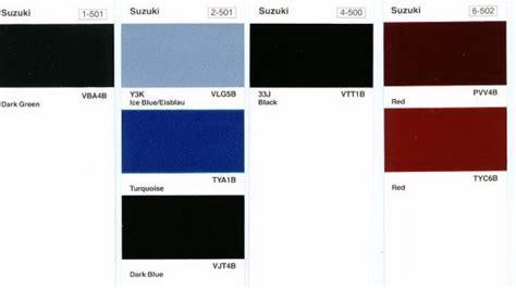 Suzuki Motorcycle Paint Codes Year