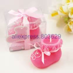 24pcs set pink blue baby shoe candle favor more
