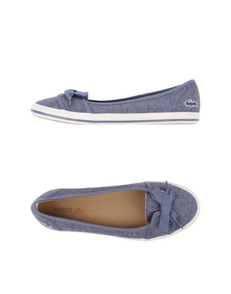 lacoste flat shoes lacoste ballet flats in blue lyst