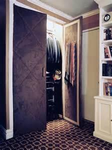 Cloth Closet Doors Home Dzine Bedrooms Dress Up Closet Doors With Fabric Wallpaper Or Moulding