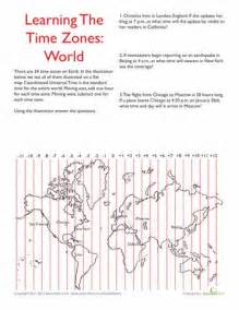 us time zone map worksheet 25 best ideas about world time zones on child