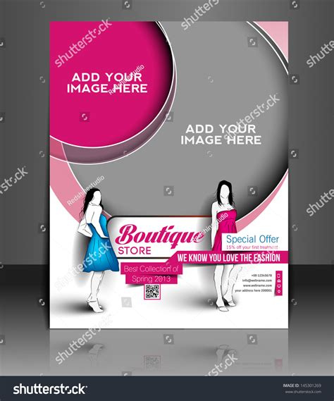 boutique flyer template free vector boutique store flyer magazine cover poster template 145301269