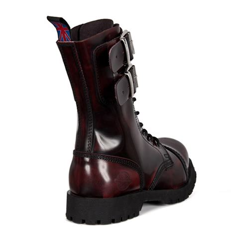 burgundy combat boots burgundy leather 2 buckle combat boots by nevermind
