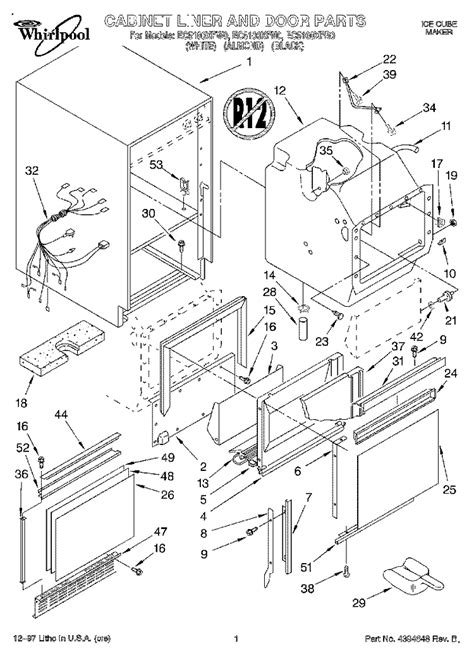 whirlpool maker parts diagram whirlpool machine parts diagrams and catalog
