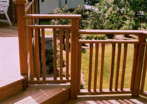 Rustic Kitchen Decorating Ideas - wood deck handrail designs unique hardscape design