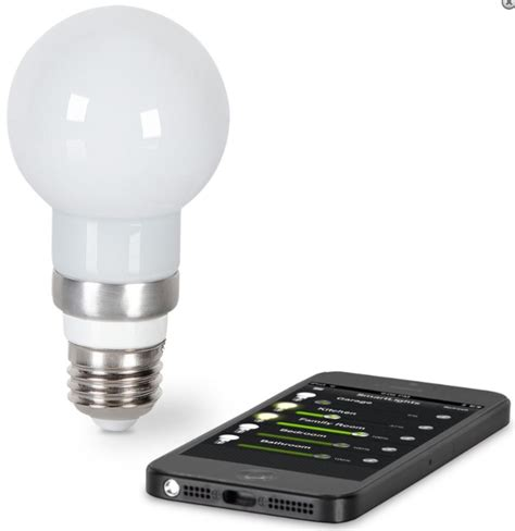 Light Bulb Controlled By Phone by The Iphone Controlled Light Bulb Gadgets Matrix