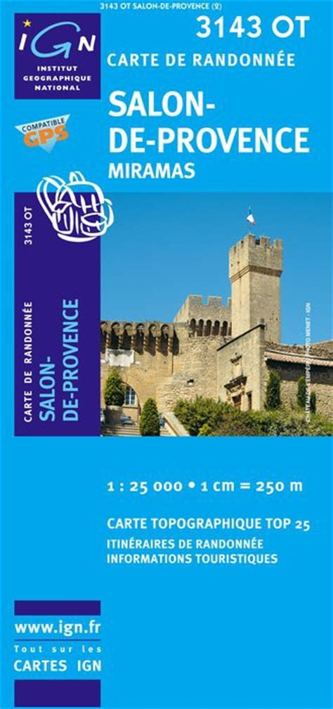carte ign top 25 s 233 rie bleue salon de provence
