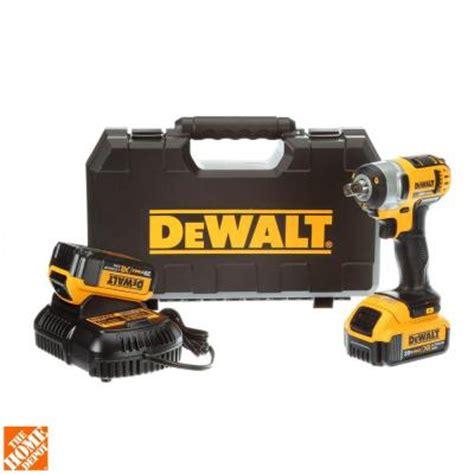 Home Depot Dewalt by Dewalt 20 Volt Max Lithium Ion 1 2 In Cordless Impact