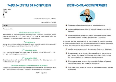 Lettre De Motivation école Journalisme Exemple Lettre De Motivation Stage 3eme Journalisme Document