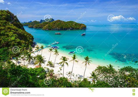 Thailand Eye Bird Eye View Of Angthong National Marine Park Koh Samui
