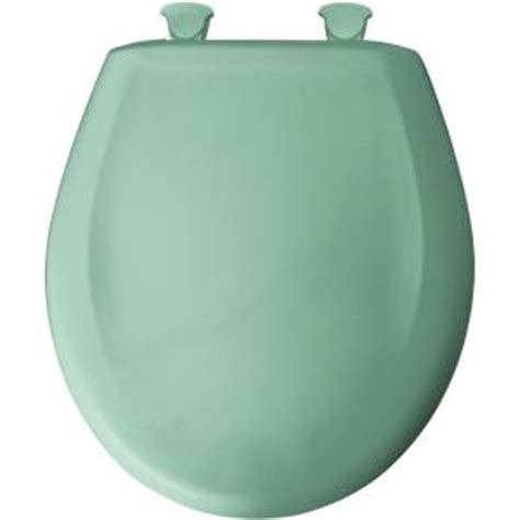 aqua green toilet seat bemis closed front toilet seat in ming green