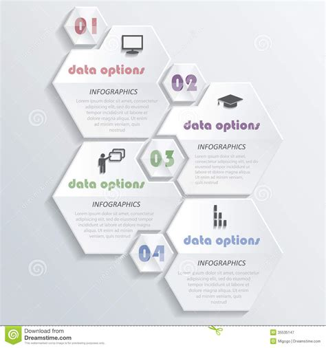 graphic design layout diagrams modern infographics design with numbers royalty free stock