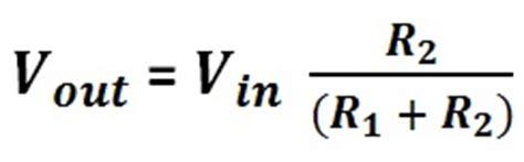 resistor divider calculation formula potential divider calculator