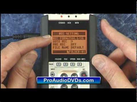 video tutorial zoom h4n zoom h4n auto record tutorial help handy recorder youtube
