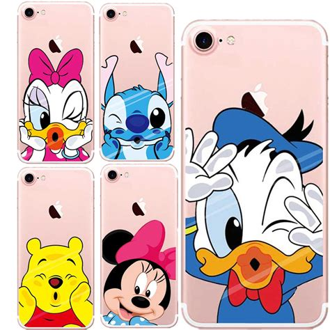 Minnie Mickey Mouse Stitch Softcase Cover For Iphone 7 Plus minnie mickey mouse stitch duck soft