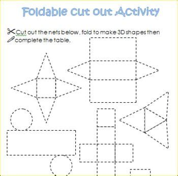 How To Make A 3d Cone With Paper - 3d shapes worksheets sorting activities nets posters