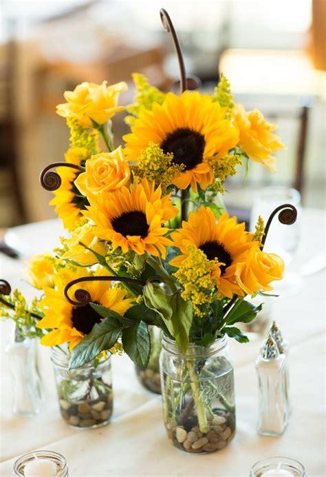 sunflower centerpiece sunflower wedding centerpieces