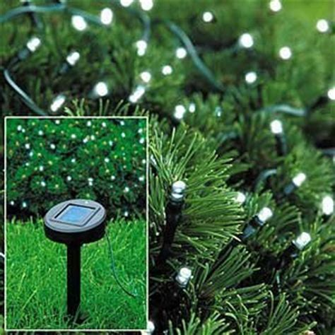 amazon com solar powered white christmas lights string