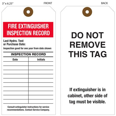 printable fire extinguisher tags custom printed fire extinguisher hang tags st louis tag
