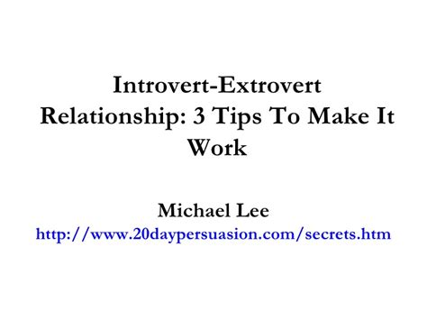 Introvert In Mba by Introvert Extrovert Relationship 3 Tips To Make It Work