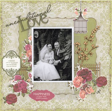 scrapbook layout four photos unconditional love wedding album scrapbook com love