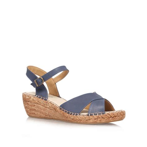 blue wedge sandals carvela kurt geiger kandy mid heel wedge sandals in blue