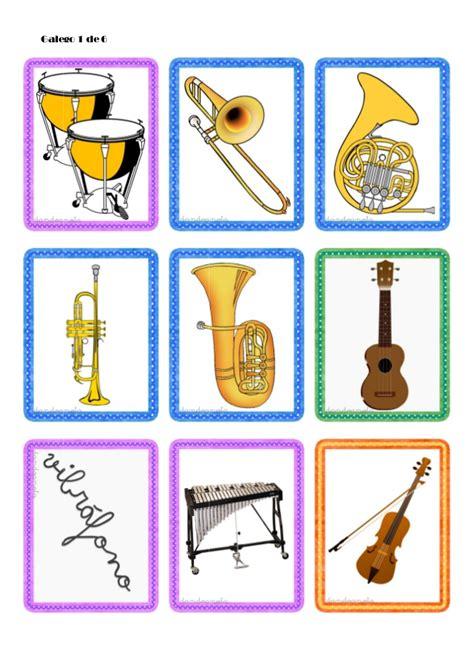 imagenes musicales con niños tarjetas de instrumentos musicales