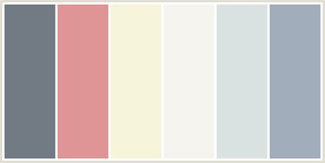 popular color colorcombo125 with hex colors 727b84 df9496 f6f4da