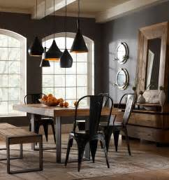 Industrial Dining Room Chairs by 30 Ways To Create A Trendy Industrial Dining Room