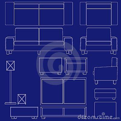blueprint living room furniture stock photography image