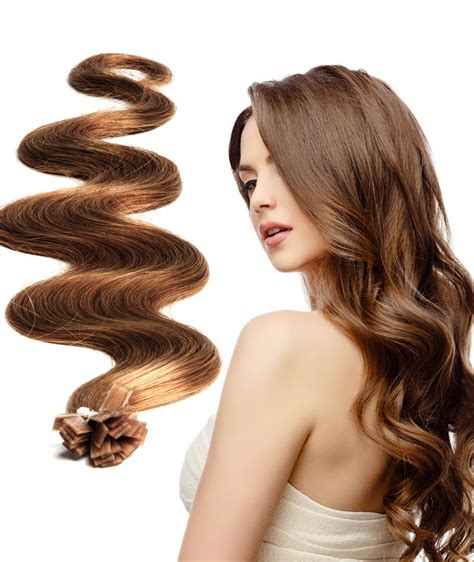 Hair Clip Curly Keriting Hair Extension pre bonded extensions authentic russian hair