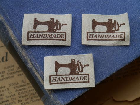 Labels For Handmade Items - 20pcs handmade sewing tags sew in labels sewing