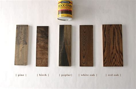 How To Finish Wood Cabinets How 6 Different Stains Look On 5 Popular Types Of Wood