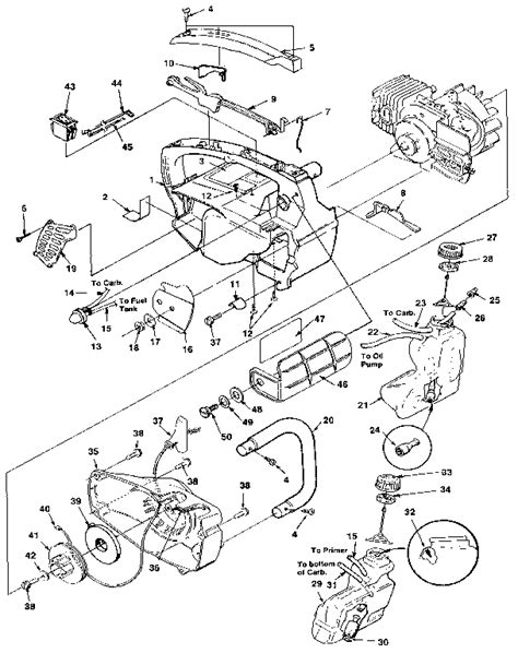homelite chainsaw parts diagram homelite chain saw parts model xl sears partsdirect