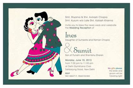 indian wedding card wording guide rsvp no gifts with compliments