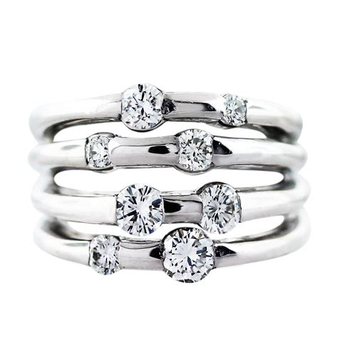 white gold 4 row band ring boca raton