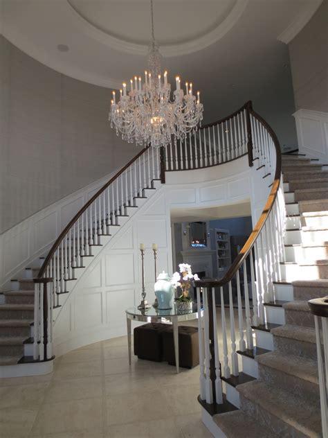 Home Decor. Artistic Crystal Chandelier For Elegant High Ceiling Lighting Decoration