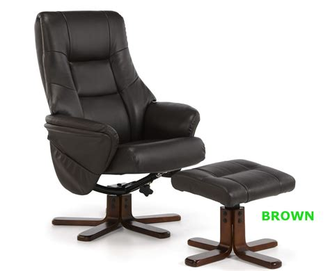 faux leather recliner chairs welton faux leather massage recliner chair and stool