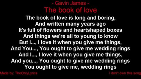 picture book lyrics gavin the book of with lyrics