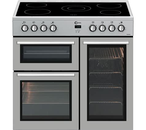 silver range buy flavel mln9crs 90 cm electric range cooker silver