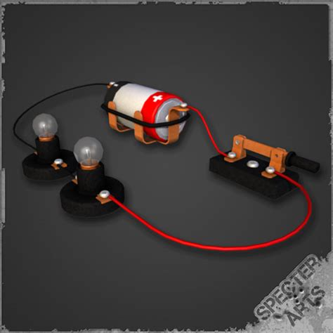 model of simple electric circuit illustration simple series circuit 3d model